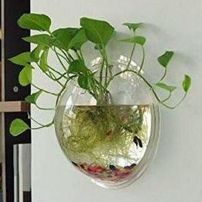 Pecera de pared nhsunray cristal jarr n de decoraci n mundo acuario - Pecera de pared ...